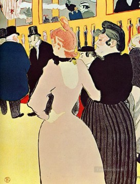 Henri de Toulouse Lautrec Painting - at the moulin rouge la goulue with her sister 1892 Toulouse Lautrec Henri de