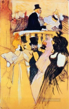 Henri de Toulouse Lautrec Painting - at the opera ball 1893 Toulouse Lautrec Henri de