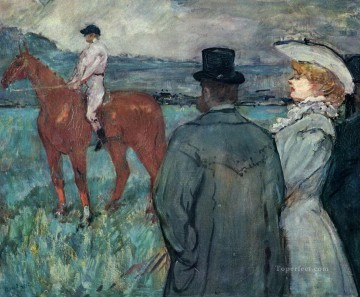Henri de Toulouse Lautrec Painting - at the races 1899 Toulouse Lautrec Henri de