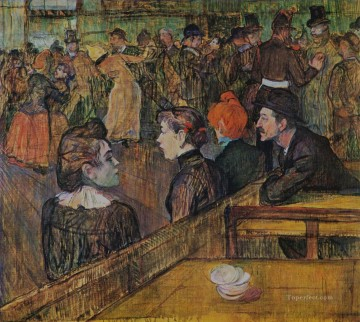 Henri de Toulouse Lautrec Painting - ball at the moulin de la galette 1889 Toulouse Lautrec Henri de