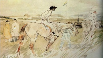 Henri de Toulouse Lautrec Painting - is it enough to want something passionately the good jockey 1895 Toulouse Lautrec Henri de