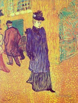 Henri de Toulouse Lautrec Painting - jane avril leaving the moulin rouge 1893 Toulouse Lautrec Henri de