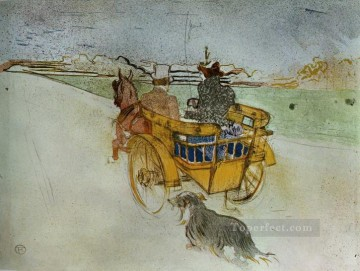 Henri de Toulouse Lautrec Painting - la charrette anglaise the english dog cart 1897 Toulouse Lautrec Henri de
