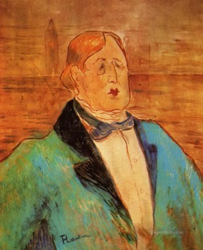 1895 Works - portrait of oscar wilde 1895 Toulouse Lautrec Henri de