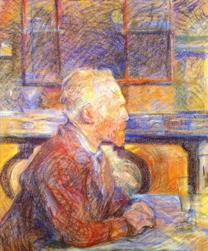 Gogh Canvas - portrait of vincent van gogh 1887 Toulouse Lautrec Henri de