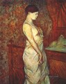 poupoule in chemise by her bed Toulouse Lautrec Henri de