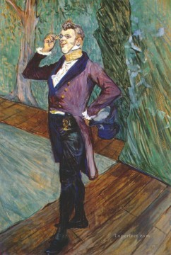 Henri de Toulouse Lautrec Painting - the actor henry samary 1889 Toulouse Lautrec Henri de