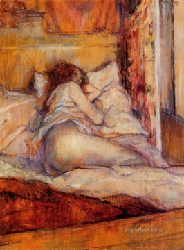 Henri de Toulouse Lautrec Painting - the bed 1898 Toulouse Lautrec Henri de