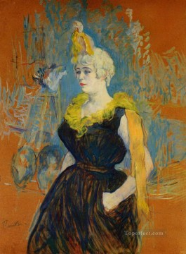 Henri de Toulouse Lautrec Painting - the clown cha u kao 1895 Toulouse Lautrec Henri de
