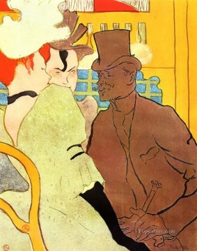 Henri de Toulouse Lautrec Painting - the englishman at the moulin rouge 1892 Toulouse Lautrec Henri de