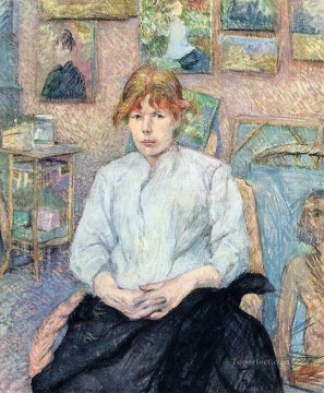 Henri de Toulouse Lautrec Painting - the redhead with a white blouse 1888 Toulouse Lautrec Henri de