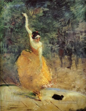 Henri de Toulouse Lautrec Painting - the spanish dancer 1888 Toulouse Lautrec Henri de