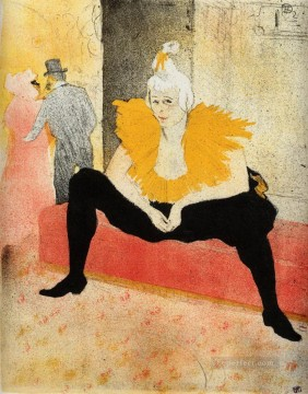 1896 Oil Painting - they cha u kao chinese clown seated 1896 Toulouse Lautrec Henri de