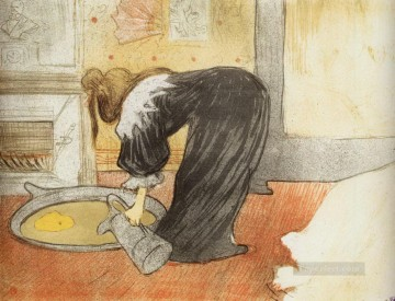 1896 Oil Painting - they woman with a tub 1896 Toulouse Lautrec Henri de