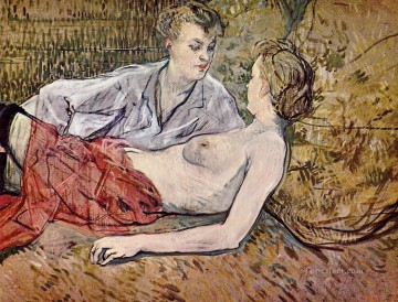 1895 Oil Painting - two friends 1895 1 Toulouse Lautrec Henri de