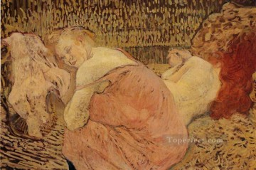 Henri de Toulouse Lautrec Painting - two friends 1895 Toulouse Lautrec Henri de