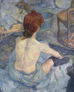 Henri de Toulouse Lautrec Painting - woman at her toil 1896 Toulouse Lautrec Henri de
