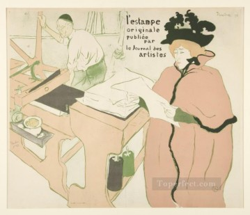 Henri de Toulouse Lautrec Painting - coverage of the original print 1893 Toulouse Lautrec Henri de