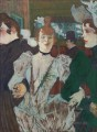 la goulue arriving at the moulin rouge with two women 1892 Toulouse Lautrec Henri de