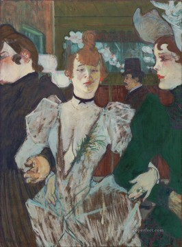 Henri de Toulouse Lautrec Painting - la goulue arriving at the moulin rouge with two women 1892 Toulouse Lautrec Henri de