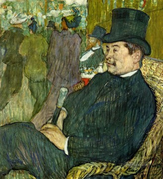 Henri de Toulouse Lautrec Painting - m delaporte at the jardin de paris 1893 Toulouse Lautrec Henri de