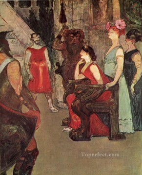 1900 Works - messalina seated 1900 Toulouse Lautrec Henri de
