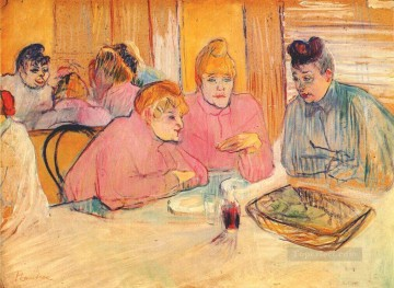 Inn Painting - prostitutes around a dinner table Toulouse Lautrec Henri de