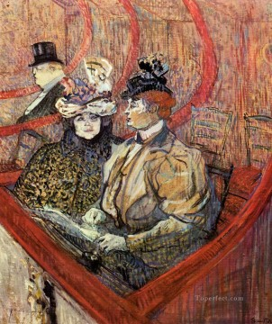 Henri de Toulouse Lautrec Painting - the grand tier 1897 Toulouse Lautrec Henri de