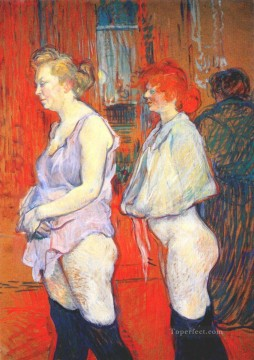 Henri de Toulouse Lautrec Painting - the medical inspection Toulouse Lautrec Henri de