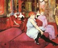 the salon de la rue des moulins 1894 Toulouse Lautrec Henri de
