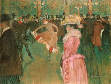 Henri de Toulouse Lautrec Painting - Dance at the Moulin Rouge post impressionist Henri de Toulouse Lautrec