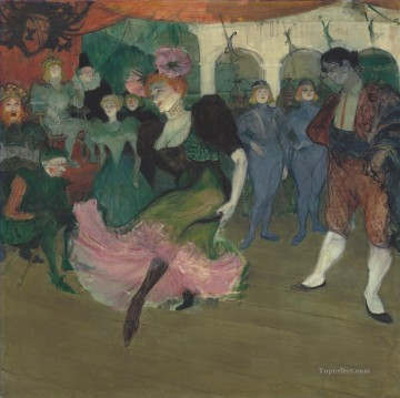 1895 Oil Painting - marcelle lender dancing in the bolero in chilperic 1895 Toulouse Lautrec Henri de