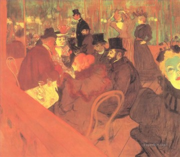 1895 Oil Painting - the promenoir the moulin rouge 1895 Toulouse Lautrec Henri de