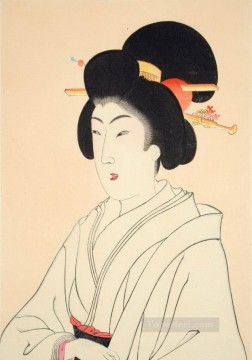 true beauties 1898 Toyohara Chikanobu bijin okubi e Oil Paintings
