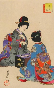 sugoroku game 1896 Toyohara Chikanobu bijin okubi e Oil Paintings