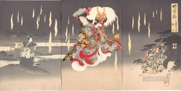 Foxfires Toyohara Chikanobu Oil Paintings