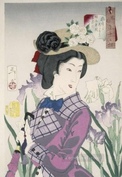 women Painting - a married woman in the meiji period Tsukioka Yoshitoshi beautiful women
