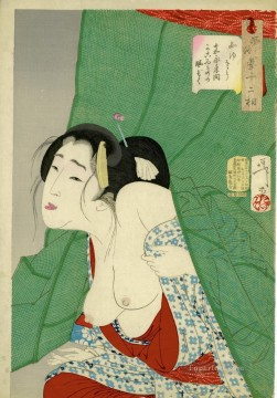 the appearance of a kept woman of the kaei era Tsukioka Yoshitoshi beautiful women Oil Paintings