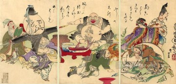 the seven lucky gods Tsukioka Yoshitoshi Oil Paintings