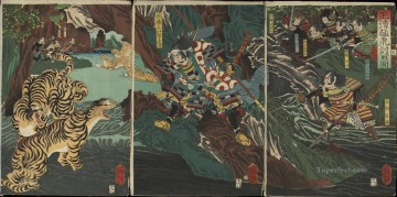 kato kiyomasa hunting tigers in korea during the imjim war Tsukioka Yoshitoshi Oil Paintings