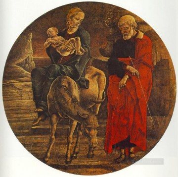 Cosme Tura Painting - Flight To Egypt Cosme Tura