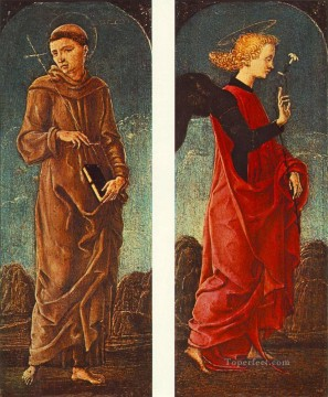 Cosme Tura Painting - St Francis Of Assisi And Announcing Angel Cosme Tura