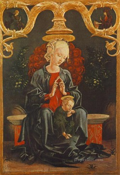 Cosme Tura Painting - Madonna And Child In A Garden Cosme Tura