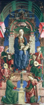 Lippi Filippino The virgin and child enthroned Cosme Tura Oil Paintings