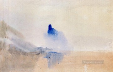 Joseph Mallord William Turner Painting - Study Of A Castle By A Lake Romantic Turner