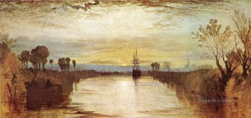 Joseph Mallord William Turner Painting - Chichester Canal Romantic Turner