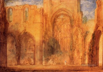 Fountains Painting - Interior of Fountains Abbey Yorkshire Romantic Turner