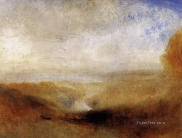 Turner Art - Landscape with a River and a Bay in the Background Turner