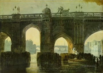 Old London Brige Turner Oil Paintings