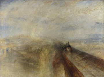 Turner Art - Rain Steam and Speed the Great Western Railway landscape Turner